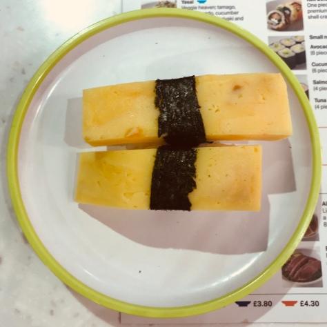 Yo! Sushi Review - Tamago Nigiri